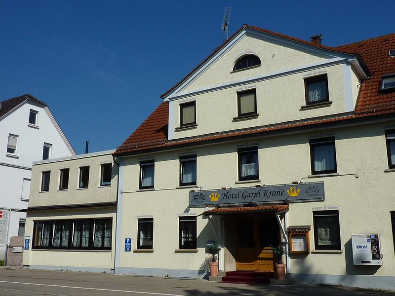 Eingang Hotel Garni Krone